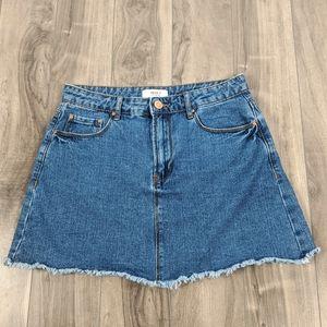 Forever 21 Denim Miniskirt Sz 27